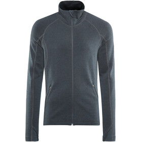 Lundhags Merino Full Zip Jacket Men Deep Blue